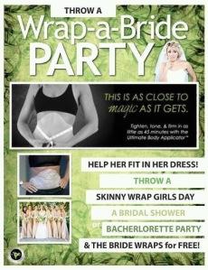 wrap a bride party