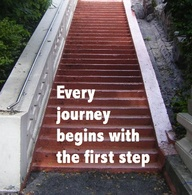 every journey begins with the first step